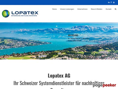 LOPATEX AG - Entsorgung und Recycling