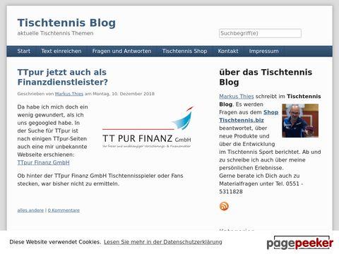 Tischtennis Blog