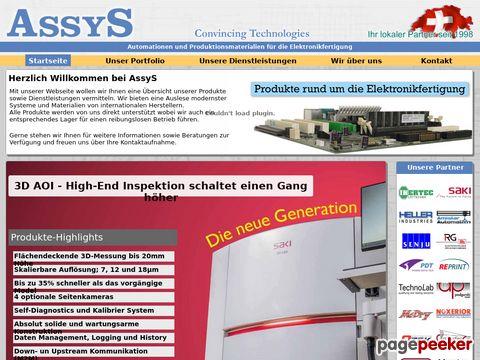 Assys GmbH - Automation in der Elektronikproduktion