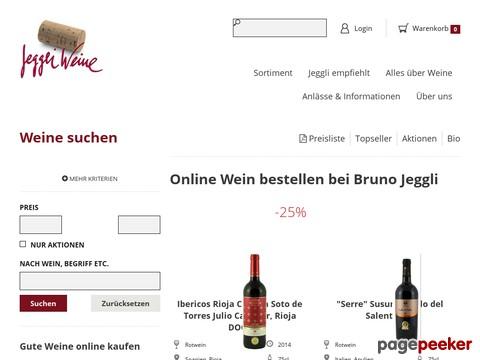 Jeggli Weine - Wein bestellen aus unserem Wein Online Shop und Versand