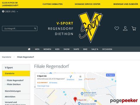 v-sport.ch - Sportartikelgeschäft und Servicecenter