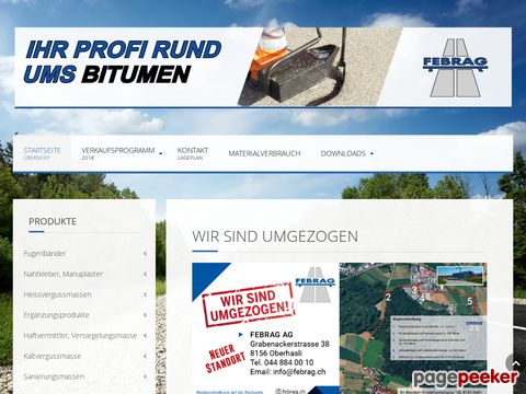 Febrag AG - Strassenbau und Abdichtungen