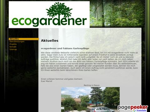 EcoGardener - Gartenunterhalt & Gartenumänderungen