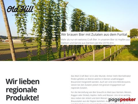 Old Hill Brewery - Bier aus dem Furttal gebraut in Dänikon (Zürich)