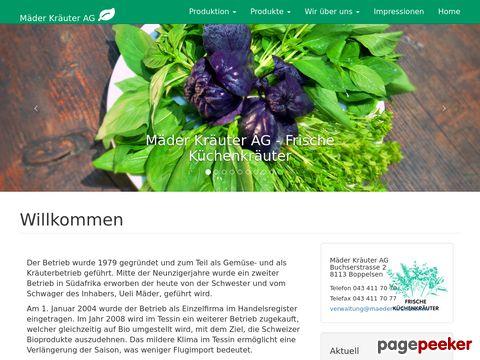 Mäder Kräuter - Frische Küchenkräuter!