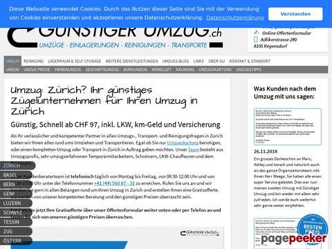 Umzug in Zürich - Ihr günstiges Zügelunternehmen & Umzugsfirma in Zürich: Günstiger Umzug G