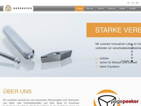 Wabawaska Engineering GmbH - verlötet Diamanten