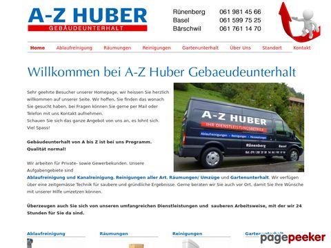 a-z-huber.ch - A.Z.Huber - Die Reingungsfirma in Basel
