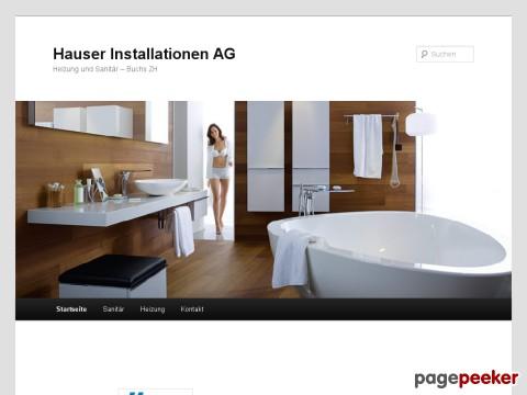 Hauser Installationen AG - Heizung und Sanitär – Buchs ZH