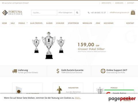 Fortuna Gravuren - Das Spezialgeschäft für Pokale, Medaillen, Zinn und Gravuren