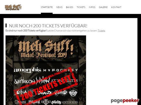 MEH SUFF! METAL-FESTIVAL (Hüttikon/ZH)