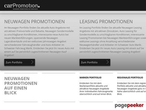 carPromotion.ch - Neuwagen Promotionen & Auto Leasing Angebote auf einen Blick!