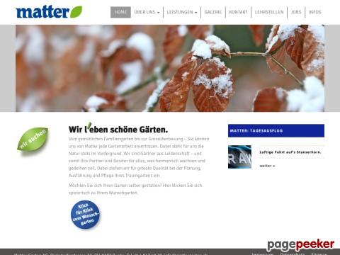 Matter Garten -Planung - Gartenbau - Gartenpflege - Sportplatzpflege