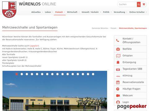 Gemeinde Würenlos: Mehrzweckhalle, Sportanlagen