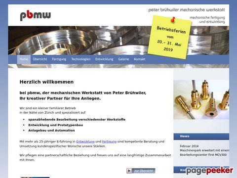 pbmw.ch - Mechanischen Werkstatt von Peter Brühwiler