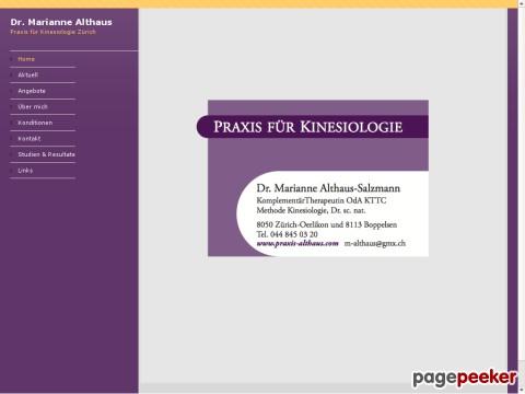 Praxis für Kinesiologie Boppelsen - Dr. Marianne Althaus