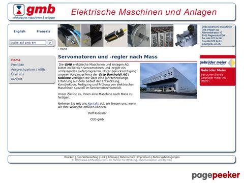 GMB Elektrische Maschinen AG