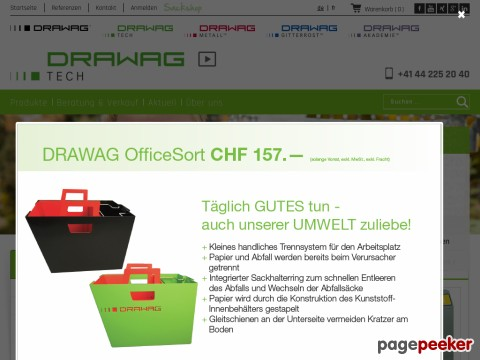 DRAWAG TECH AG - vom Abfallbehälter über Container bis hin zu Spezialanfertigungen