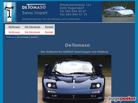 DeTomaso Import Switzerland