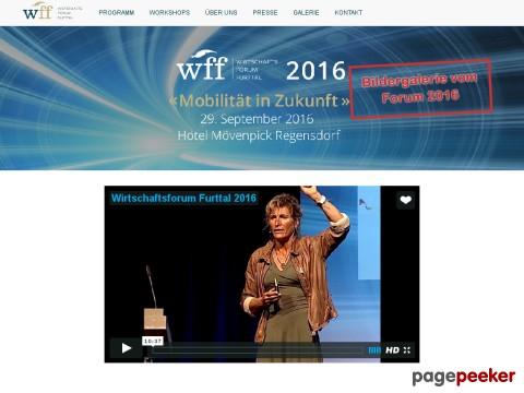 Wirtschafts - Forum - Furttal (wff) - der Anlass im Furttal - jetzt Ticket sichern!