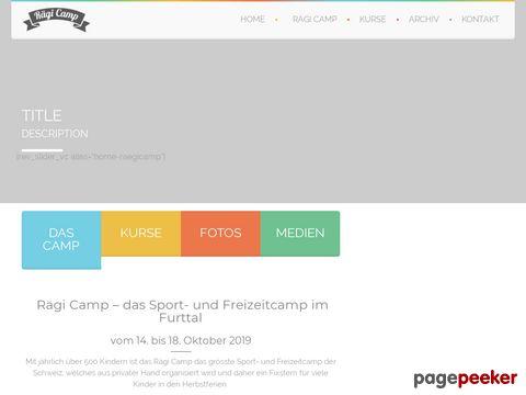 raegisport-camp.ch - das Jugendcamp in Regensdorf und Umgebung