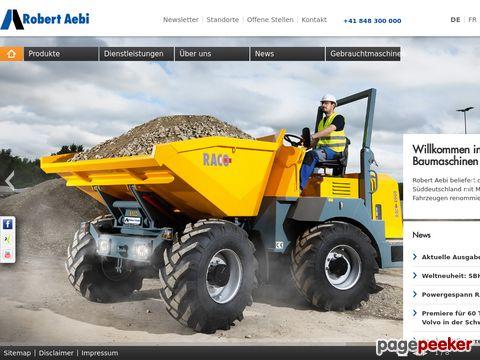 Robert Aebi - Maschinen, Geräte und Fahrzeugen renommierter Marken.