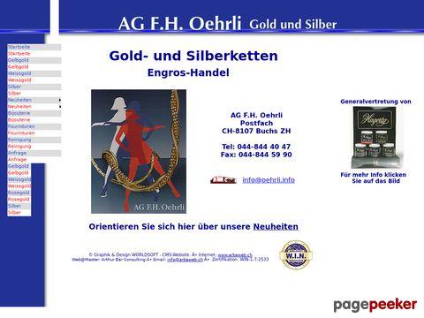 AG F.H.Oehrli Gold- und Silberschmuck