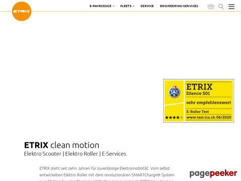 ETRIX clean motion – Elektro Scooter   Elektro Roller   E-Services
