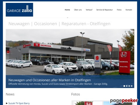 GARAGE ZölliG - Offizielle Suzuki Vertretung