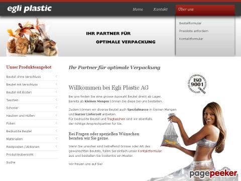 Egli Plastic AG - Produktion und Handel von Beutel und Verpackungsmaterial aus Plastik