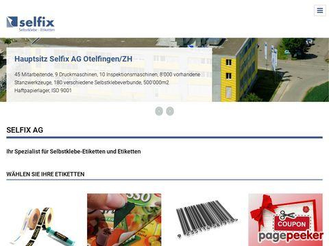 Selfix AG - Etiketten, Selbstklebeetiketten und Etikettiersysteme, Adressetiketten, Barcodeetiketten