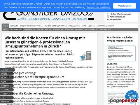 Ihr Günstiger Umzug im Furttal und Zürich