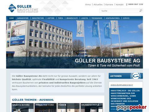 Güller Tore - Türen - Logistik - Brandschutz » Güller Bausysteme AG