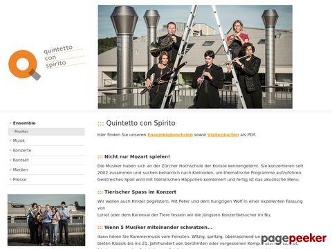 Quintetto con Spirito – Das professionelle Bläser-Quintett