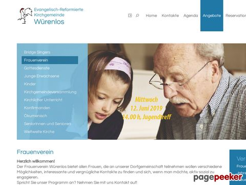 Frauenverein, Evangelisch-Reformierte Kirchgemeinde Würenlos