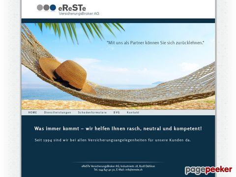 eReSTe GROUP - eReSTe VersicherungsBroker AG
