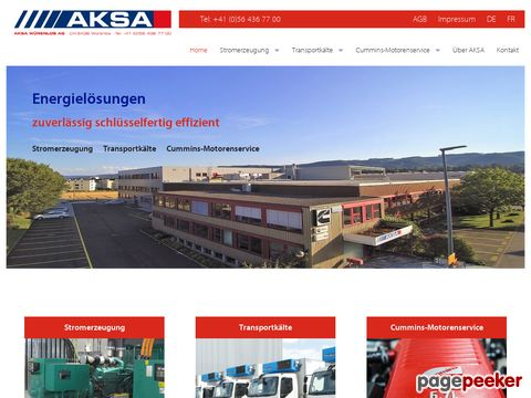 AKSA Würenlos AG - Stromerzeugung - Transportkälte - Cummins-Motorenservice