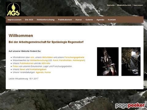 Arbeitsgemeinschaft für Speläologie Regensdorf - Höhlenforschung