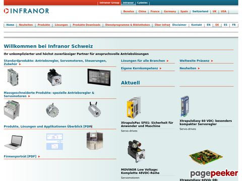 INFRANOR - your partner for servo-drive, servo-motor and motion control solutions