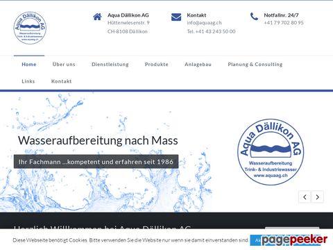 Aqua Dällikon AG - Die Spezialisten für Wasseraufbereitung und Abwasserrecycling
