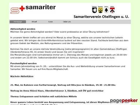Samariter-Otelfingen - Samariterkurse - Nothelferkurs (NHK)