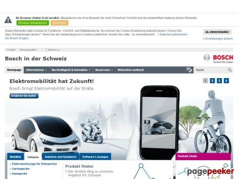 Bosch - Bosch in der Schweiz