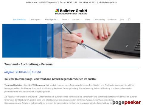Treuhand Bolleter GmbH - Treuhand - Buchhaltung - Personal