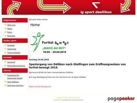 IG-Sport Dällikon - Sport- und Bewegunsangebot