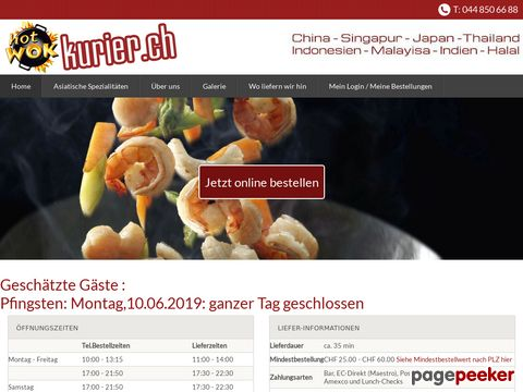 hotwok-kurier.ch - Hot Wok - Kurier (China - Singapur - Japan - Thailand - Indonesien - Malayisa)