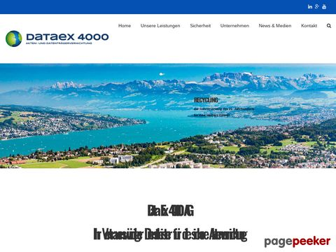 Data Ex 4000 AG - Vernichtung und Entsorgung vertraulicher Akten und Datenträger