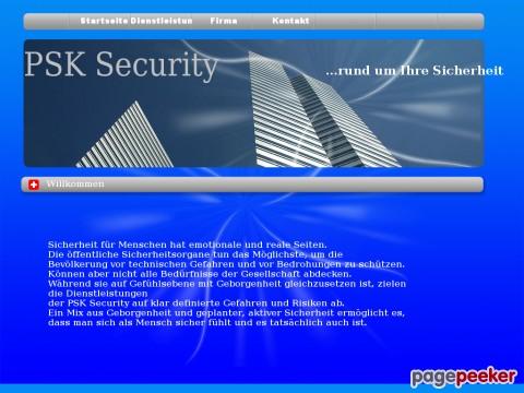 PSK Security - ...rund um Ihre Sicherheit