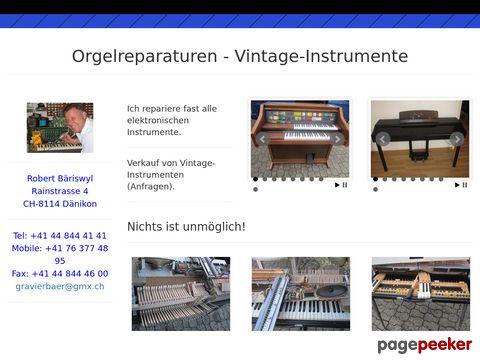 Reparaturen von Orgeln & elektronischen Instrumenten & Verkauf von Vintage-Instrumenten