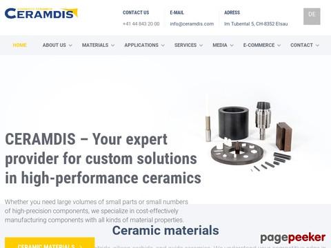 Ceramdis GmbH - Individuelle keramische Elemente vom Spezialisten