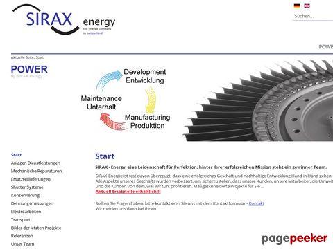 SIRAX - Energy, eine Leidenschaft für Perfektion